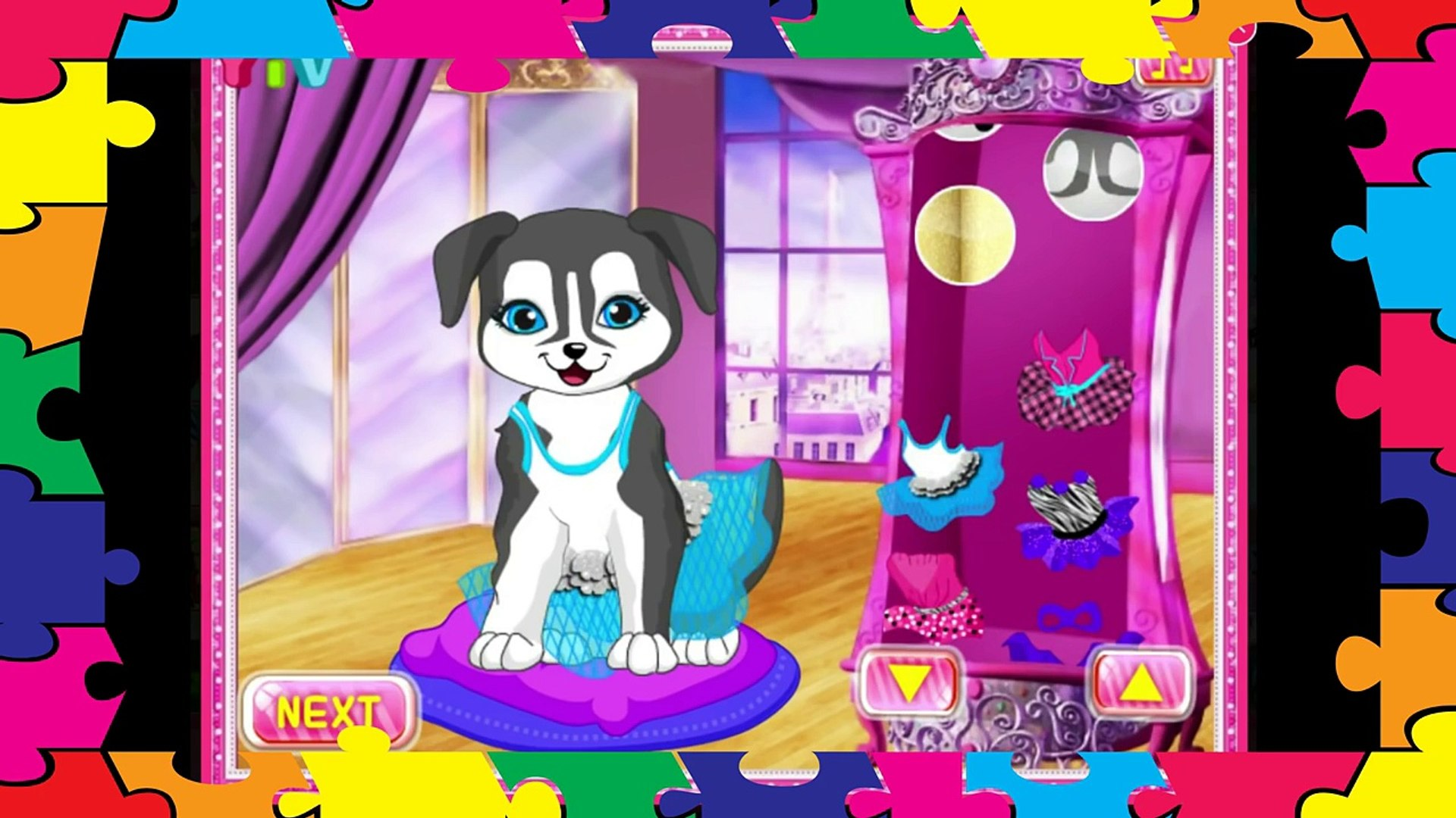 Puppy dog games #forkids. Pets Fashion Show. Cute #puppy game for babies HD