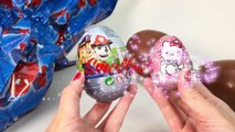 Easter Eggs Learn Sizes with Surprise Eggs Opening HUGE JUMBO Chocolate Egg Kinder Surprise