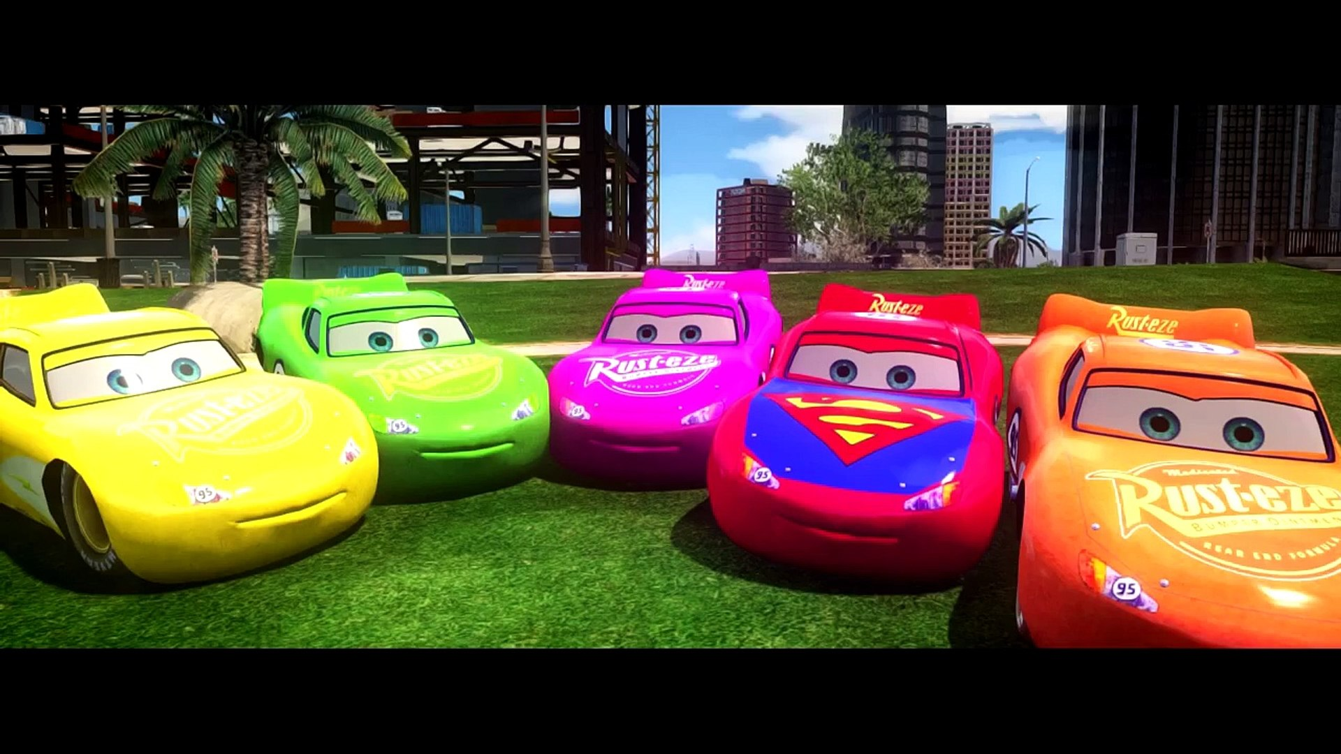 CUSTOM Disney Cars Lightning McQueen HAVE FUN with Spider Man Different Colors Mcqueen
