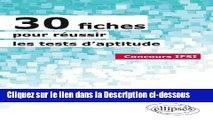 PDF 30 Fiches pour Réussir les Tests d Aptitude Concours IFSI Lire en Ligne
