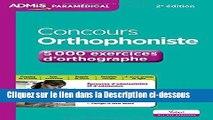Télécharger Epub Concours Orthophoniste - 5 000 exercices d orthographe - Entraînement Audiobook