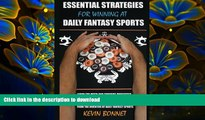 DOWNLOAD [PDF] Essential Strategies for Winning at Daily Fantasy Sports Kevin Bonnet Pre Order