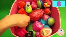 NEW Huge 100 Surprise Egg Opening Kinder Surprise Elmo Disney Pixar Cars Mickey Minnie Mouse