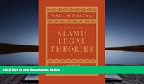 PDF [FREE] DOWNLOAD  A History of Islamic Legal Theories: An Introduction to Sunni Usul al-fiqh