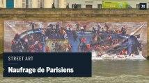 Street aert : Parisiens naufragés sur les quais de Seine