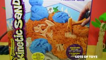 Kinetic Sand Dino Dig Fossiles Dino Squeezable Sand Lirresistible sable a modeler Toy Review
