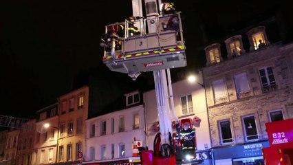 Les pompiers interviennent dans le centre de Cherbourg
