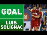 GOAL: Luis Solignac strikes on a counter with David Accam