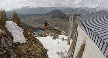 Le saut en ski gigantesque sur 30 mètres de Candide Thovex !