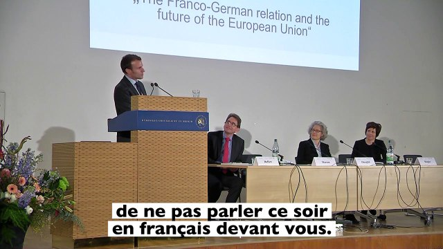 L'usage aurait voulu que je parle en français. |Emmanuel Macron