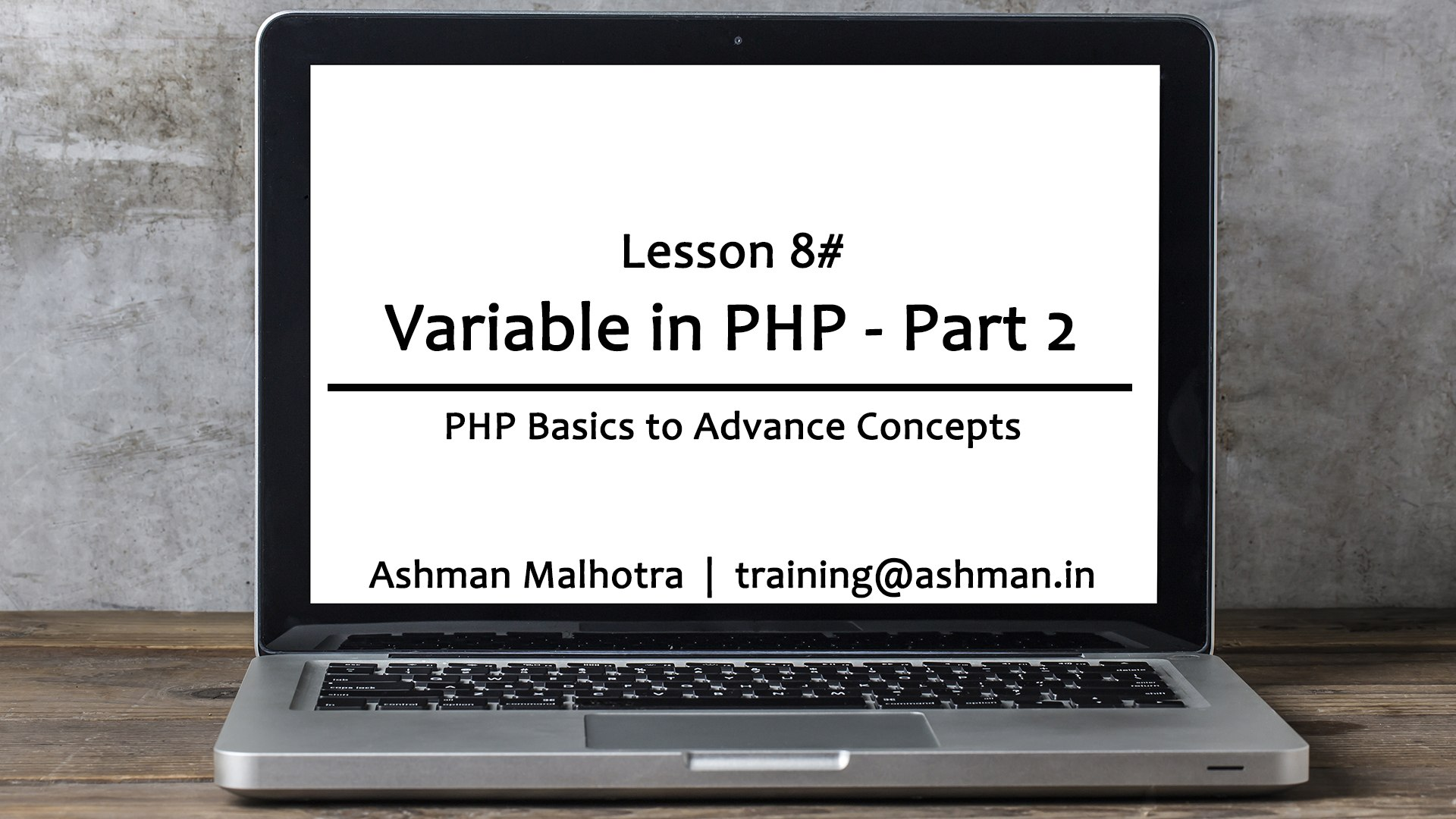 008 Variable in PHP - Part 2