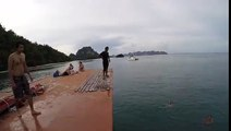 Enjoy Diving from on an Old Siamese Junk Boat at Railay Beach, Krabi, Thailand