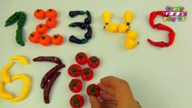 Learn To Count With Fruit And Vegetables   Numbers Counting to 10   Learn Numbers 1-10 For Toddlers