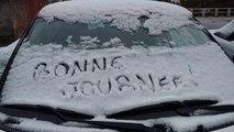 La neige dans la région de Charleroi