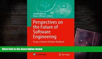 Download Perspectives on the Future of Software Engineering: Essays in Honor of Dieter Rombach Pre