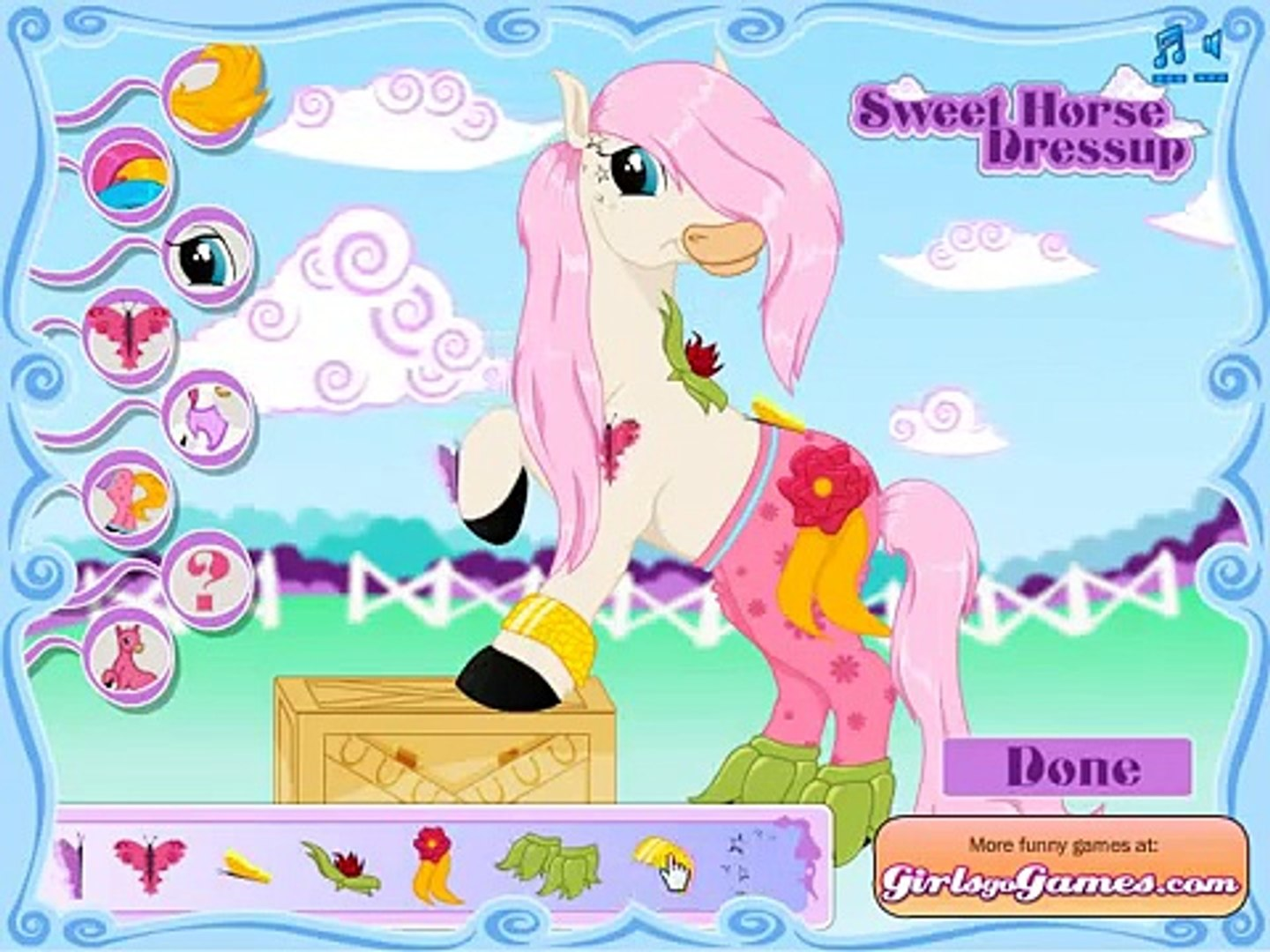 sweet dorse dressing game , best game play for kids , nice game for childrens , super game for kids
