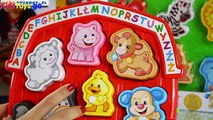 Play doh Town - Fisher-Price - Farm Animal Puzzle  Puzzle Malucha 'Wesoła Farma' - Laugh & Learn -