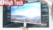 Aperçu de l'écran HD LG 32UD99 lors du CES 2017
