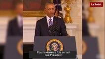 Barack Obama émeut Joe Biden jusqu'aux larmes en lui remettant la médaille de la liberté
