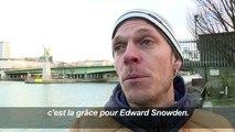 Paris: action Amnesty en faveur d'Edward Snowden