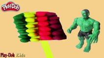 Play Doh Cream Colorful !! Make Ice cream Rainbow Colorful With Play Doh Toys Hulk Fun For Kids