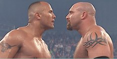 Backlash 2003 ,  Goldberg vs Rock ,  Goldberg ,  Rock ,  Goldberg Return