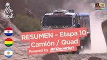 Resumen de la Etapa 10 - Quad/Camión - (Chilecito / San Juan) - Dakar 2017