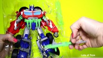 Beast Hunters!! Transformers Prime Optimus Prime Robot to Truck, Firing Cannon, Weapons