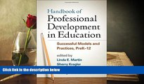 FREE [PDF]  Handbook of Professional Development in Education: Successful Models and Practices,