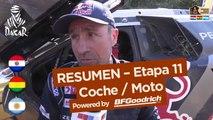 Resumen de la Etapa 11 - Coche/Moto - (San Juan / Río Cuarto) - Dakar 2017