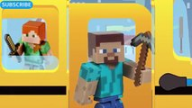 MINECRAFT CREEPER WHEELS ON THE BUS SONG Minecraft Creeper