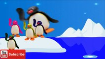five little pingu jumping on the bed | 5 Little Monkeys Jumping on the bed Song