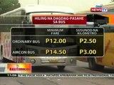 BT: LTFRB, hindi kumbinsidong   kailangan na ring magdagdag-pasahe   ang mga bus at taxi