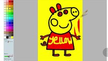 PEPPA PIG COLORS LEARN COLORS WITH PEPPA PIG COLORING PAGES FOR KIDS PEPPA PIG NURSERY RHYMES SONGS