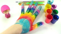 LEARN COLORS Compilation with color Hand | body paint top rainbow colors Finger | colors for kids