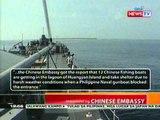 BT: Update sa stand off ng PHL navy at Chinese vessels sa Scarborro shawl