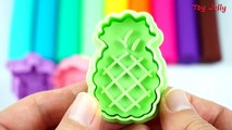 Learn Colors with Play Doh Fruits Molds Strawberry Fun and Creative for Kids Nursery Rhymes toyjelly