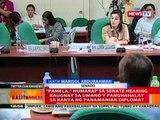 Pamela, humarap sa Senate hearing kaugnay sa umano'y panghahalay sa kanyan ng Panamanian diplomat