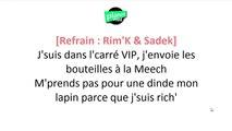 Rim'K - Hitch ft. Sadek (Paroles / Lyrics)