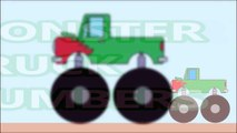 Monster Trucks Formation and Uses to stunt Learning Numbers - Monster Trucks video for Kids