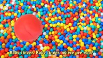 Play Doh Finger Family Ball Pit Song for learning colors   Learn Animals with Playdough for Toddler