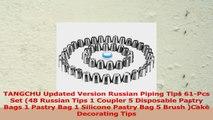 TANGCHU Updated Version Russian Piping Tips 61Pcs Set 48 Russian Tips 1 Coupler 5 222e0d08