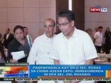 NTG: Pagpapadala kay DILG Sec. Roxas sa China-Asean Expo, inirekomenda ni DFA Sec. Del Rosario