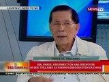 BT: Sen. Enrile, kinukwestyon ang intensyon ni Sen. Trillnes sa pakikipagnegosasyon sa China