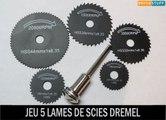 Jeu de 5 lames scies circulaires pour appareil outil rotatif Dremel