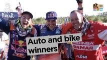 Stage 12 - Top moment: Auto and bike winners - Dakar 2017