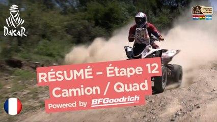 Résumé de l'Étape 12 - Quad/Camion - (Río Cuarto / Buenos Aires) - Dakar 2017