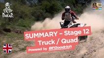Stage 12 Summary - Quad/Truck - (Río Cuarto / Buenos Aires) - Dakar 2017