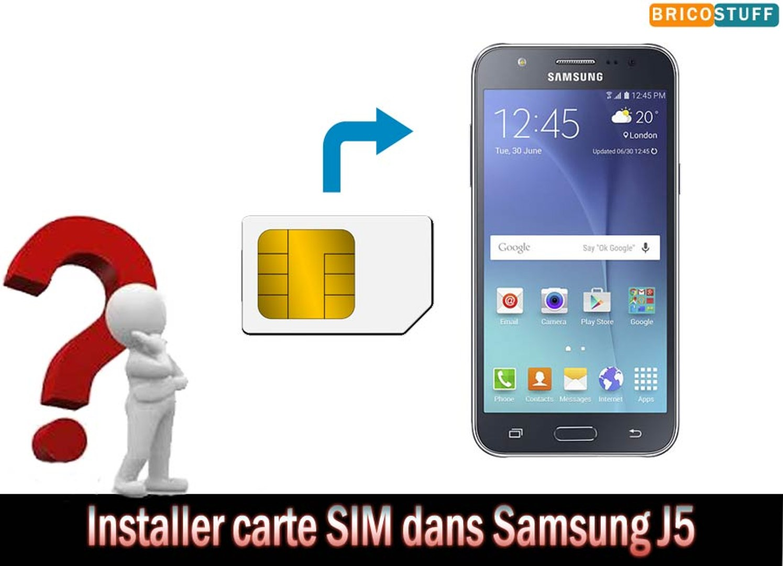 Comment Installer Carte Sim Et Carte Micro Sd Sur Un Smartphone Samsung Galaxy J5 Vidéo Dailymotion