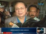 Saksi: Mike Arroyo, naghain ng not guilty plea kaugnay ng PNP chopper deal controversy